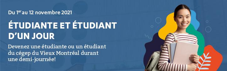 Étudiante et étudiant d'un jour du 1er au 12 novembre