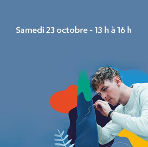 Samedi 23 octobre 2021 de 13h à 16h : portes ouvertes virtuelles au CVM